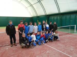 Zawodnicy UKT Tenispro na turnieju w Szczecinku10.02.2014